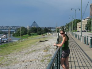 River walk on the Mississippi