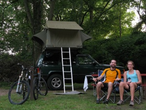post bike ride at camp.
