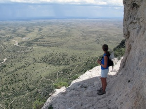 The trail up Guadalupe peak was full of switchbacks, gaining 3000 vertical feet in just over four miles.