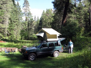 An awesome (free) campsite in the Lincoln National Forest.