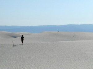 The Alkali flat hike around White Sands.