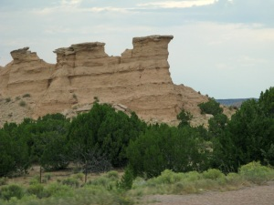 "Sandstone rock formations on the ""high road."""