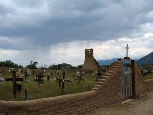 Taos Pueblo Graveyard.