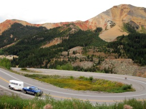 The Million Dollar Highway twists and turns.