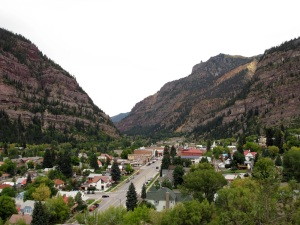 Ouray squeezed into the valley.