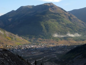 Silverton in the morning sun.