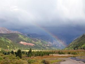 Rainbow over Telluride.