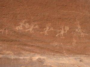 The petroglyphs.