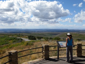 Great views from the high point at Mesa Verde.