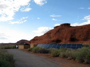Solar power at the Needles Outpost campground.