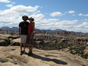 On the 12 mile hike in Canyonlands.
