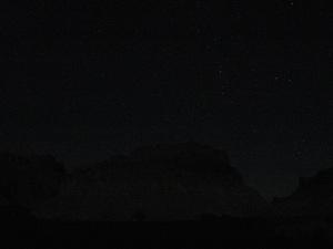 The night's sky.