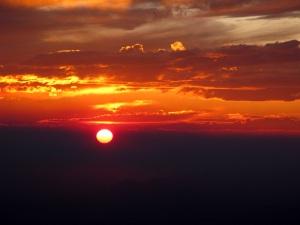The most beautiful sunset.